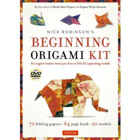 Nick Robinson's Beginning Origami Kit: An Origami Master Shows You How to Fold 20 Captivating Models (Paperback)