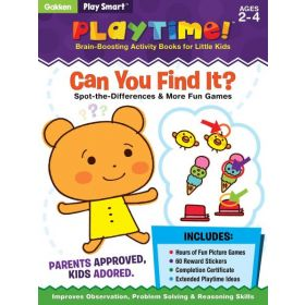 Play Smart Playtime: Can You Find It? Spot-the-Differences & More Games, Ages 2-4 (Paperback)