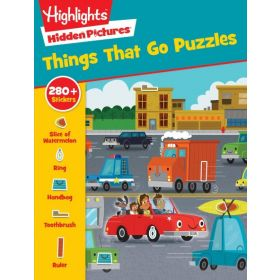 Things That Go Puzzles: Highlights Sticker Hidden (Paperback)