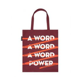 Out of Print: A Word is Power - Margaret Atwood Tote Bag (Red)