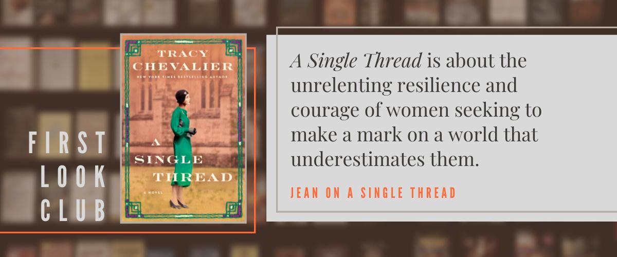 First Look Club: Jean reviews A Single Thread