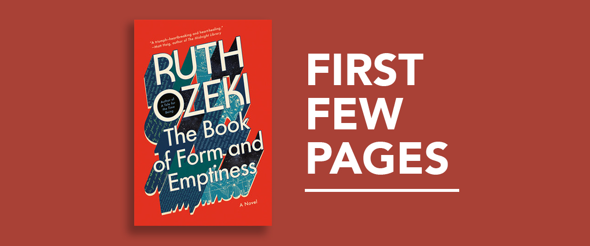 First Few Pages: The Book of Form and Emptiness by Ruth Ozeki