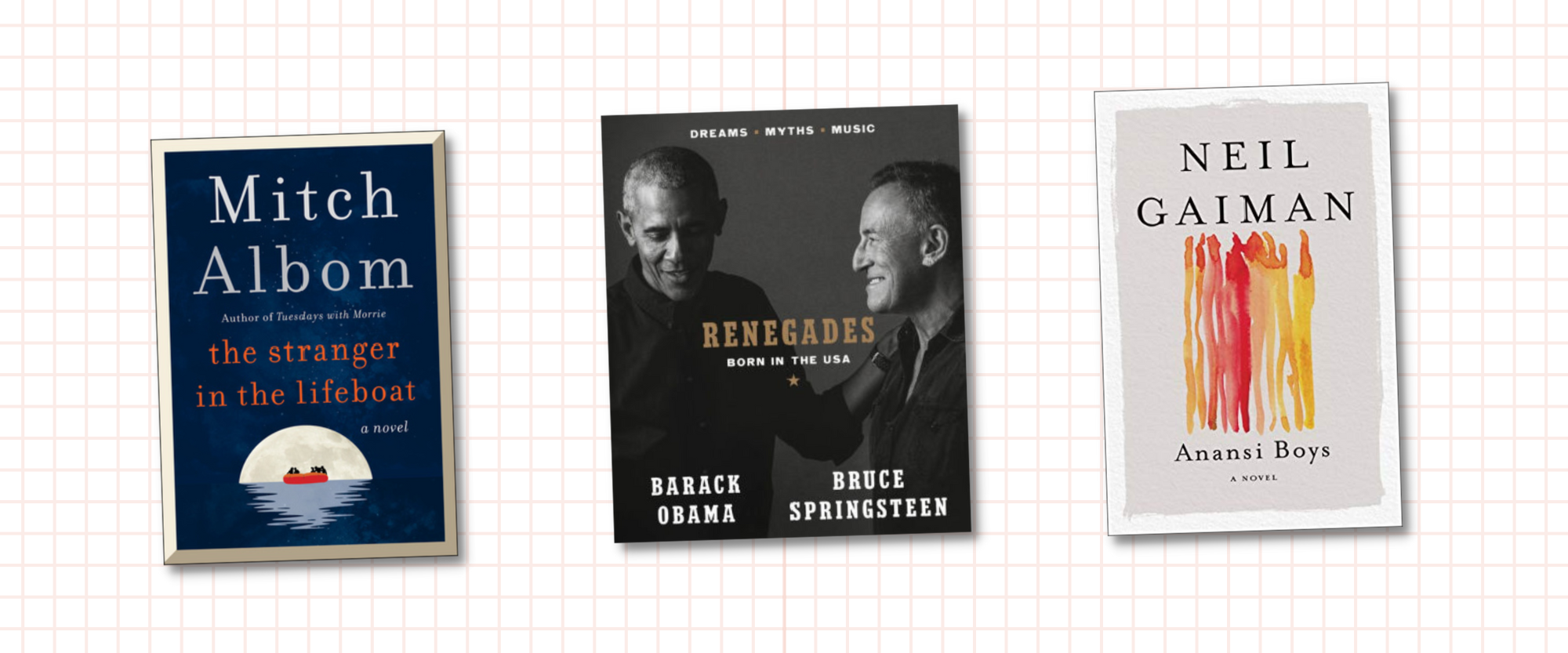 BookMarked: Anansi screen adaptation, Obama & Springsteen's leap from podcast-to-book, Albom's latest title