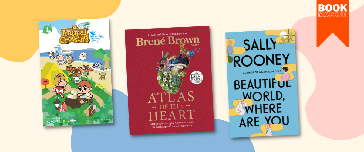 BookMarked: Animal Crossing Manga launch, Sally Rooney & Brené Brown's new books