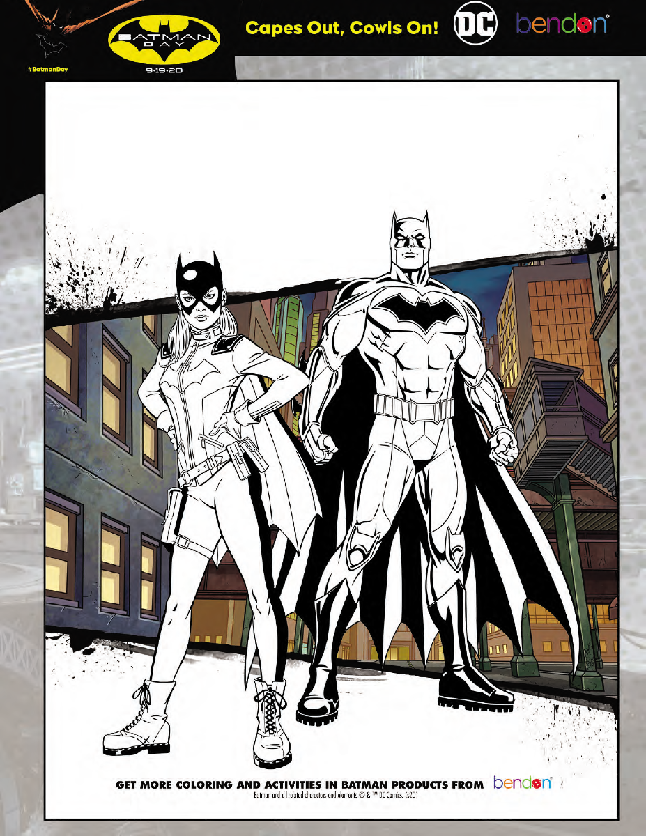 Batman Day - Coloring Page