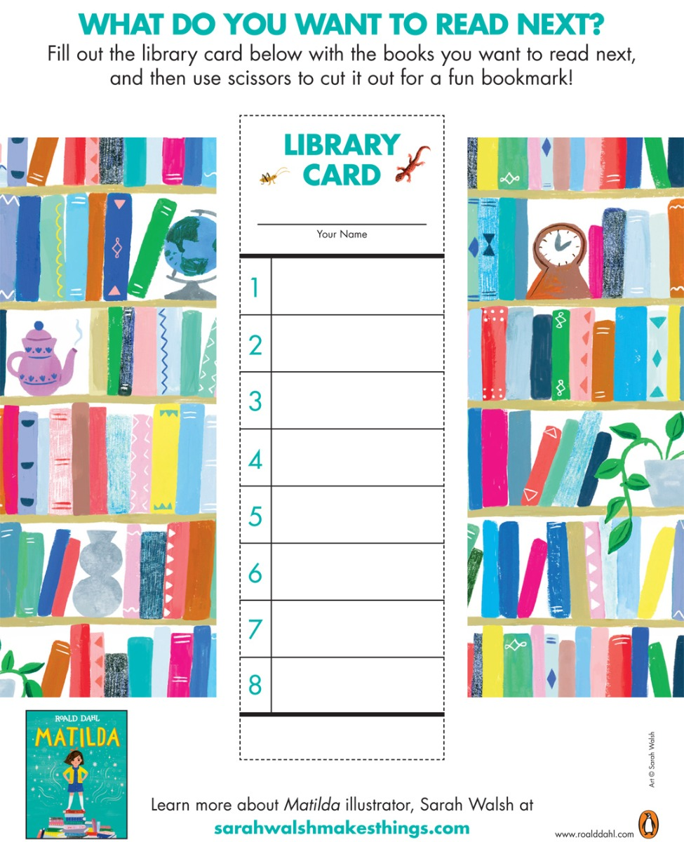 Library Card - Roald Dahl Story Day