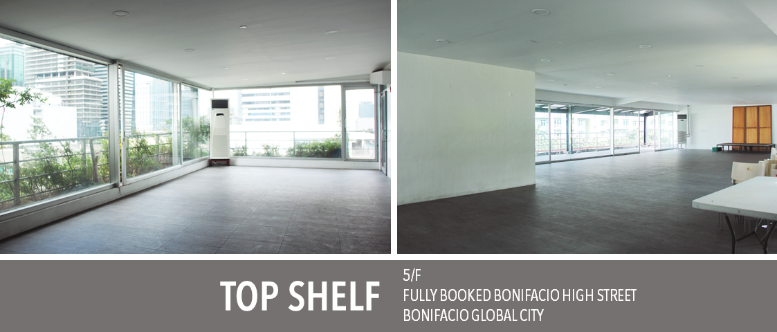 Fully Booked Top Shelf event space
